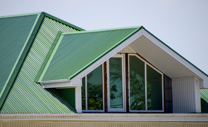 metal roofing Red Deer green